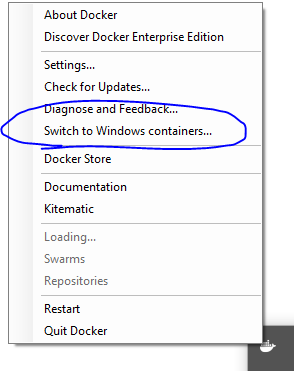 ERROR: no matching manifest for windows/amd64 in the manifest list