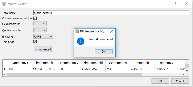cannot import CSV file into DBBrowser for sqlite · Issue #1714