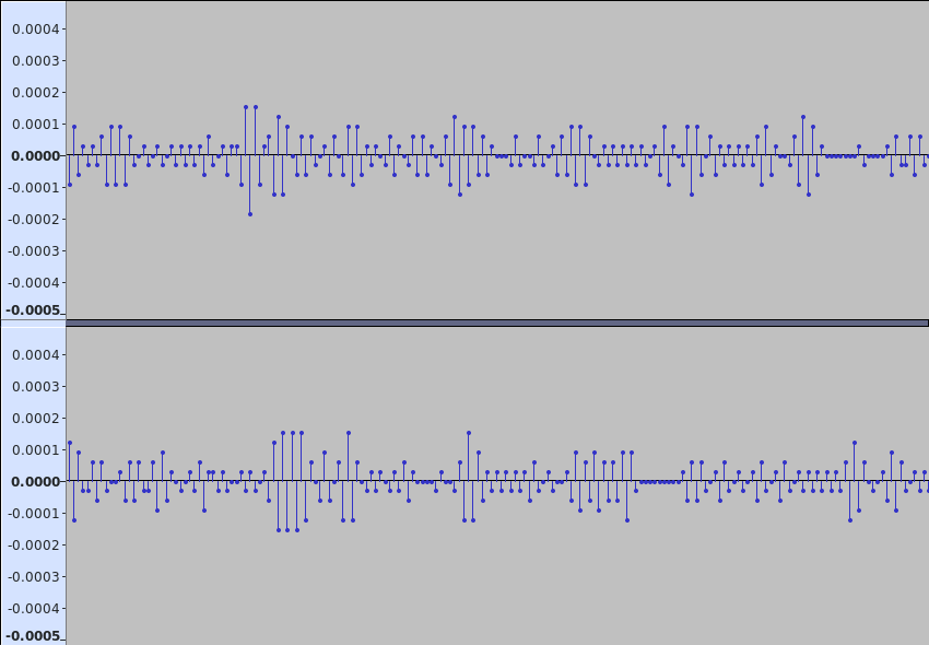 question] Noise when playing 16-bit files and using default