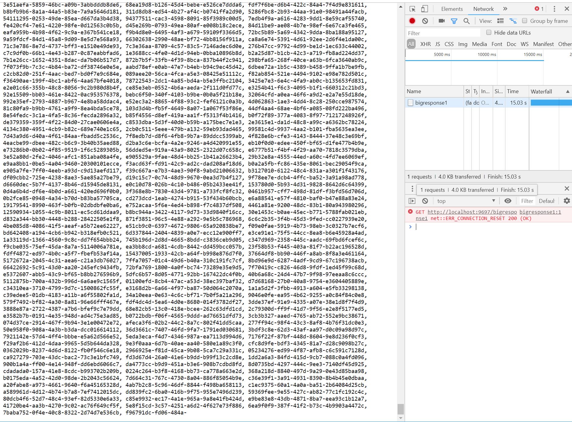 Large response exceeding Modules FileModuleBase ChunkSize