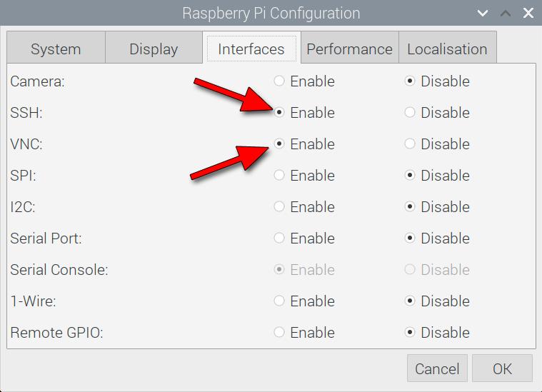 rpi-enable-ssh-vnc