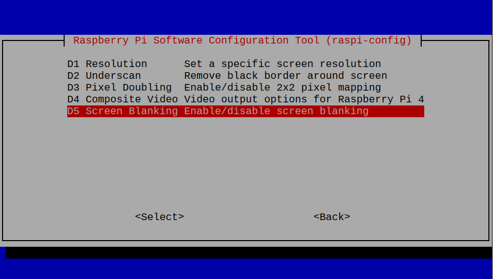 raspi-config-display-screen-blanking