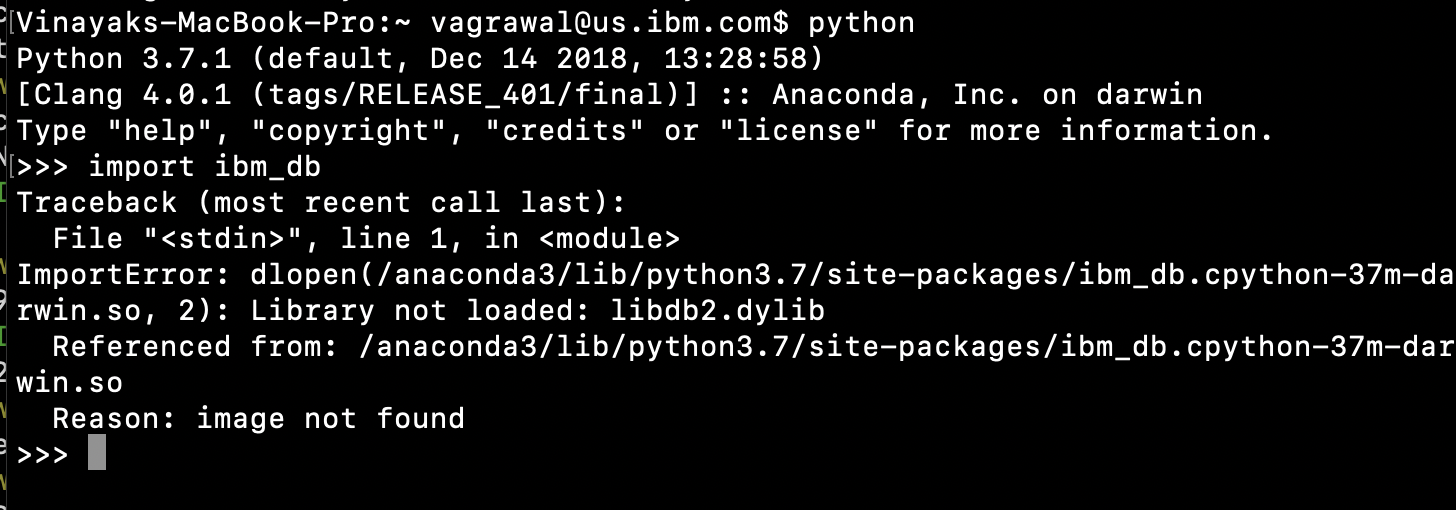 Unable to import ibm_db library · Issue #399 · ibmdb/python
