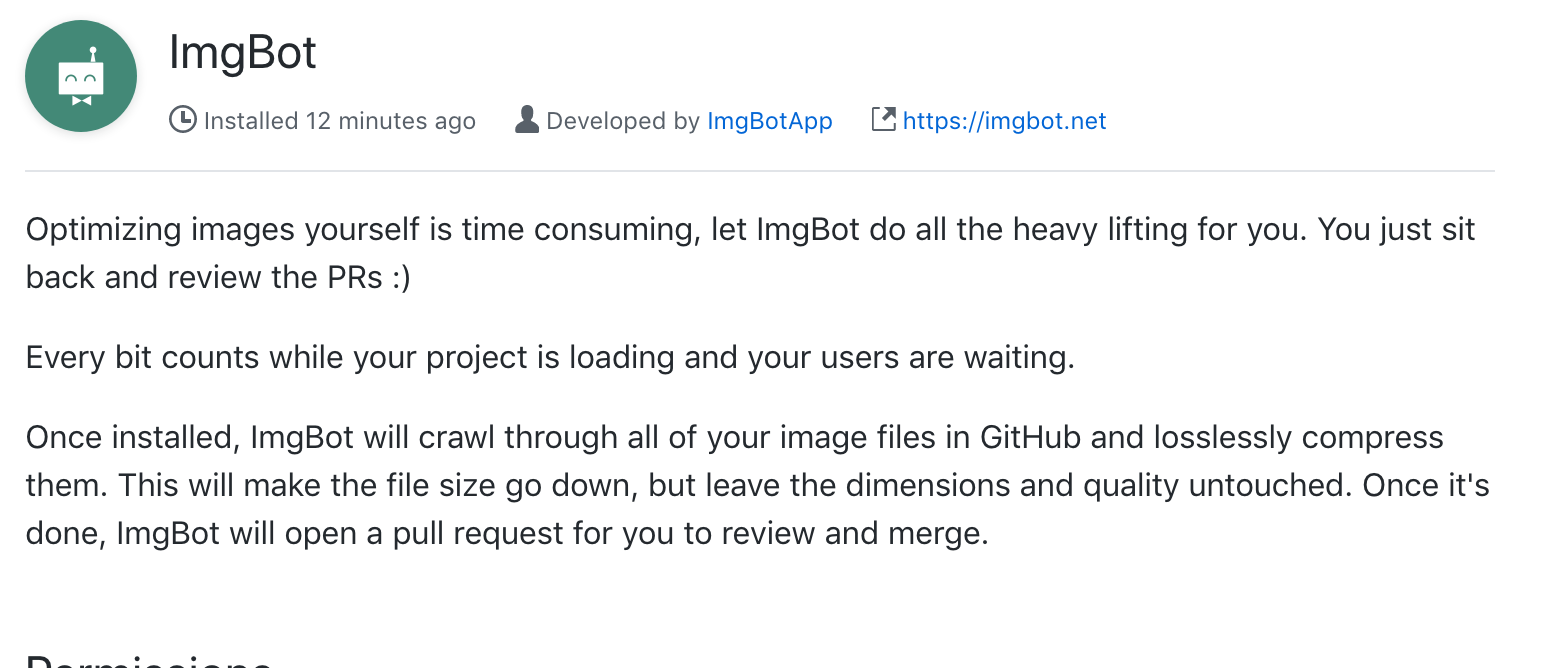 Look at adding imgbot · Issue #369 · hotosm/hotosm-website