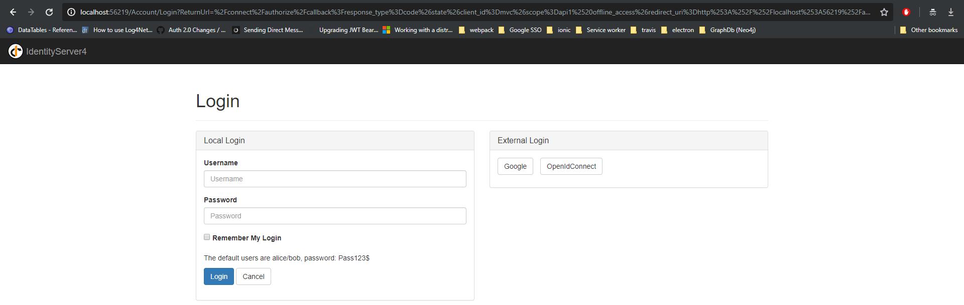 IdentityServer4 Quickstart UI AspNetIdentity not redirect