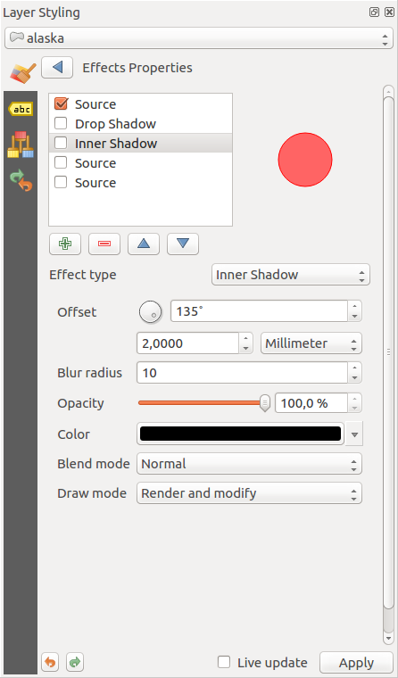 Remove the unnecessary scrollbar added to effects dialog in