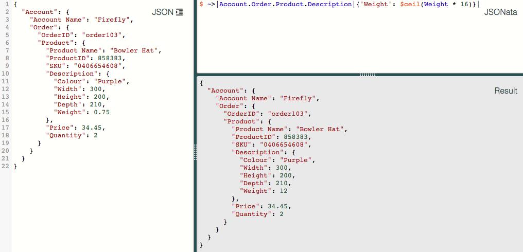 JSON manipulation · Issue #70 · jsonata-js/jsonata · GitHub