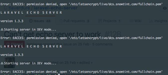 Error: EACCES: permission denied, open '/etc/letsencrypt/live/site