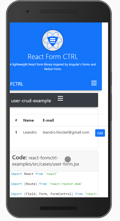 Complete user form example responsivity problems · Issue #27