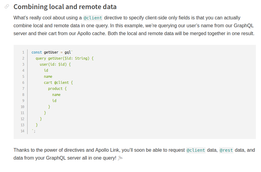 Accessing local and remote data in the same query · Issue