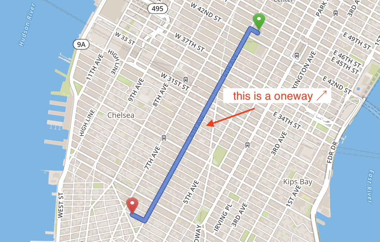 Routing bikes on oneway roads in the wrong direction · Issue