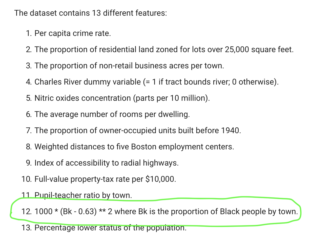 Predict House Prices Regression Tutorial Has Racist