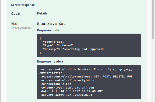 Response body and headers are not displayed for errors