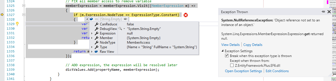 NullReferenceException when using string Empty in a batch
