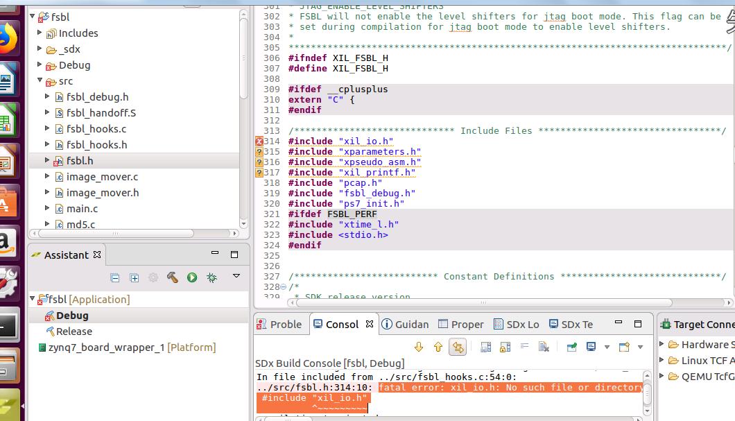 fatal error:fatal error: xil_io h: No such file or directory