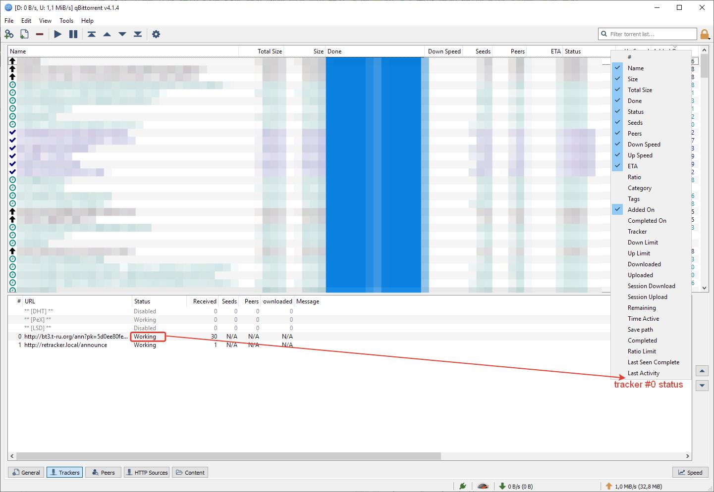 Wishlist] Add Tracker status column · Issue #8408