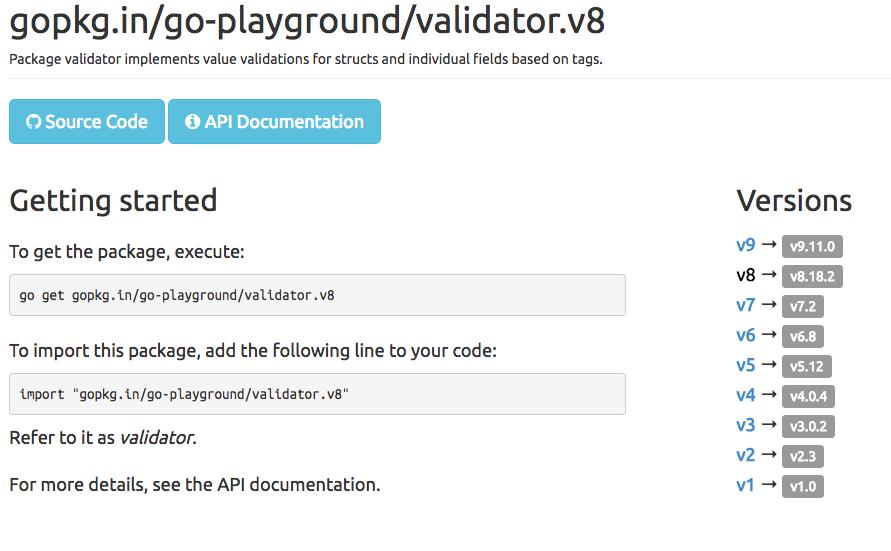 Update failed for gopkg in/go-playground/validator v8