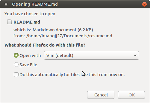 Firefox version can't open  md file from file system · Issue