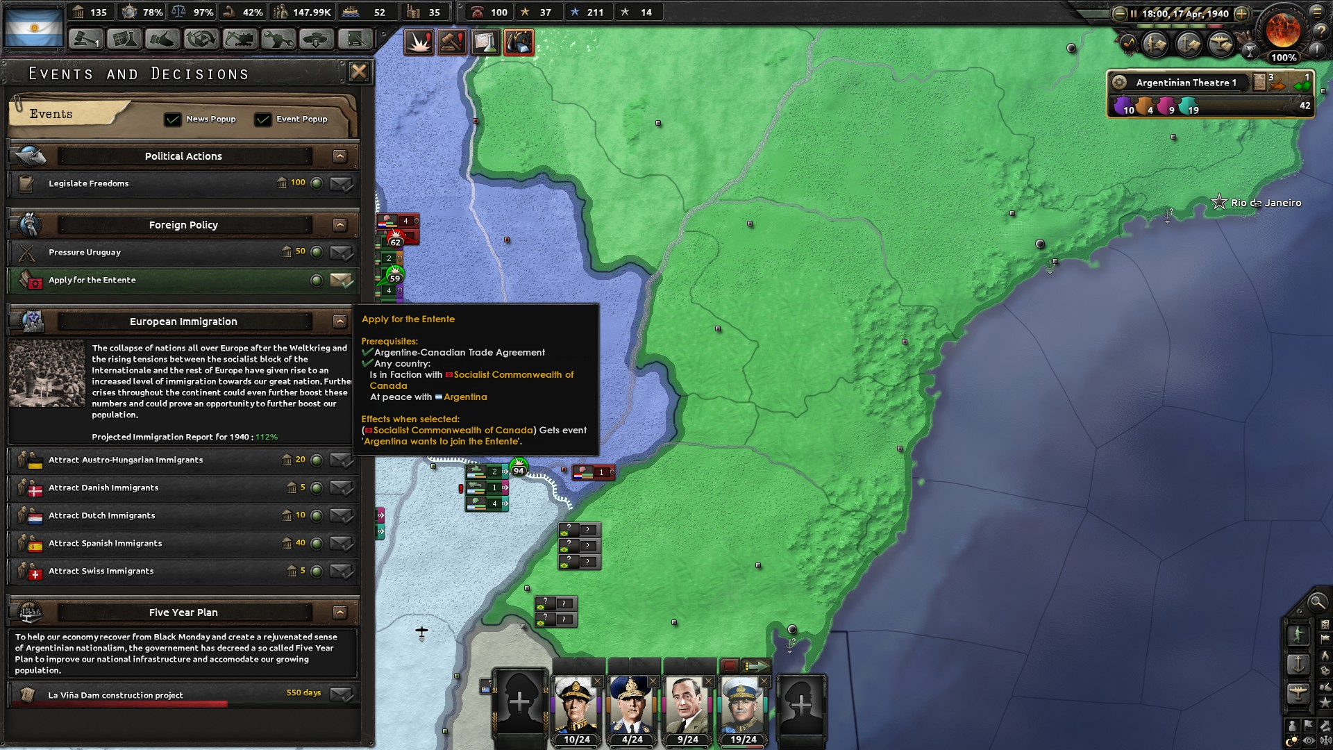 Argentina can apply to the Entente even after it does not
