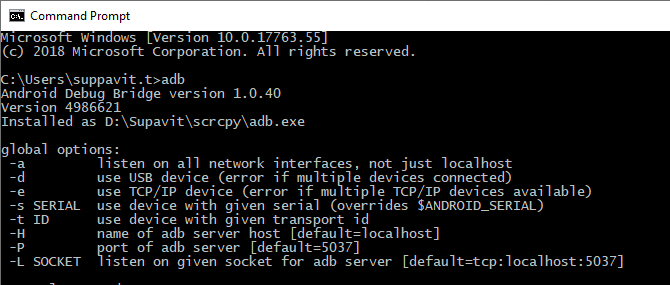 Can't use scrcpy after setting path · Issue #315 · Genymobile/scrcpy