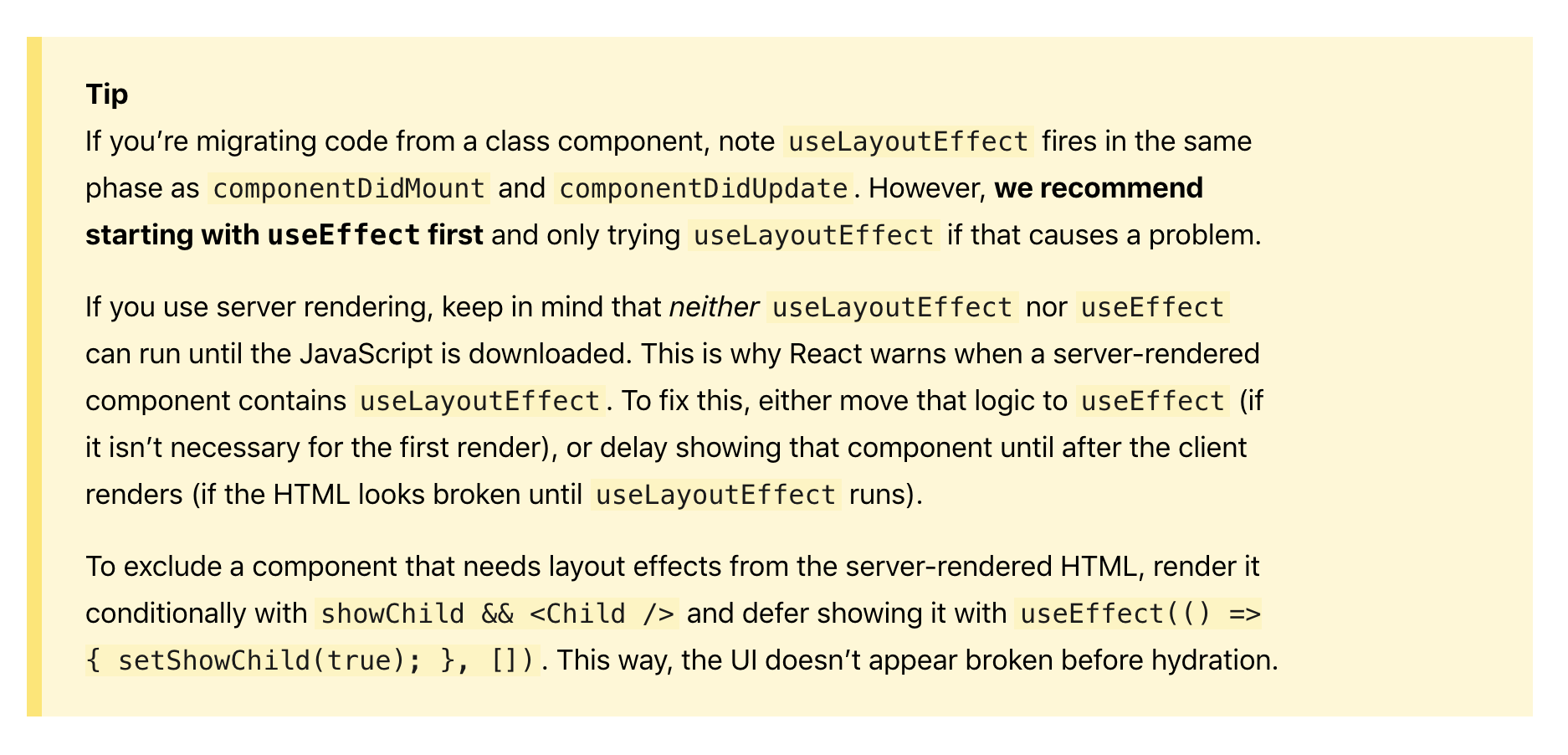 useLayoutEffect in ssr · Issue #14927 · facebook/react · GitHub