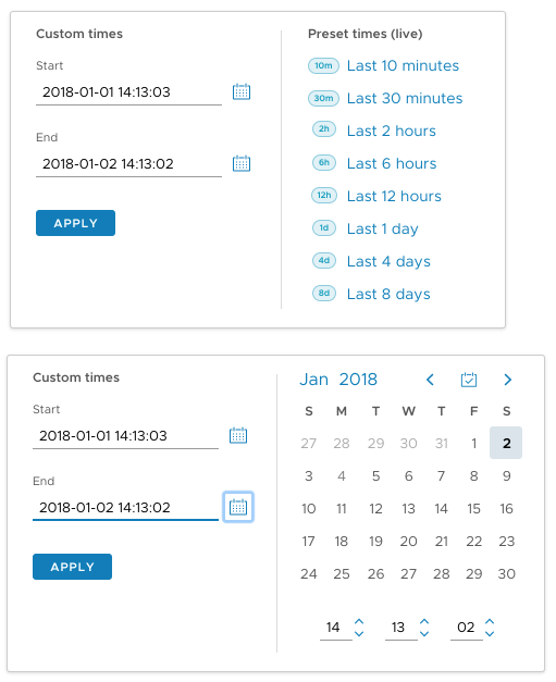 Developers - Date & Time Picker component (new) -