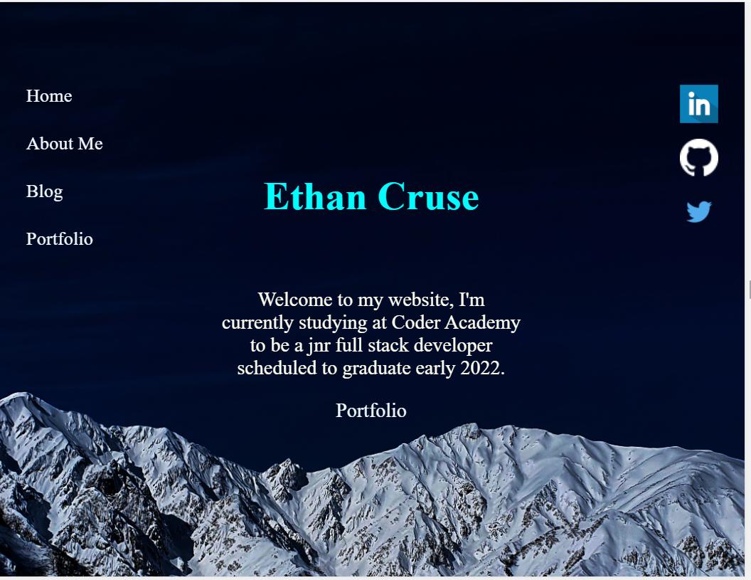Ethan Cruse-portfolio-site - 伊桑克鲁斯投资组合网站