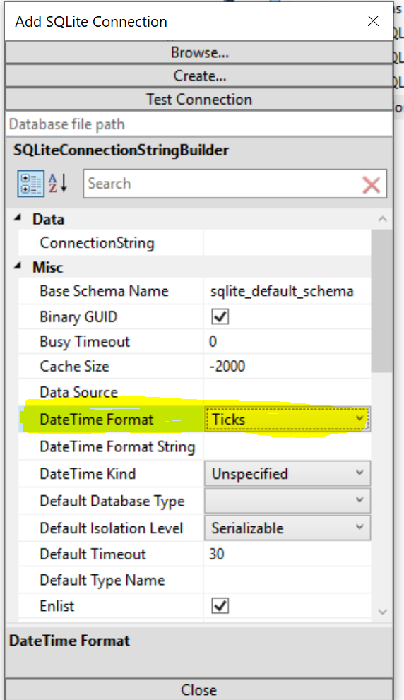 DateTime Format dropdown not working correctly when it