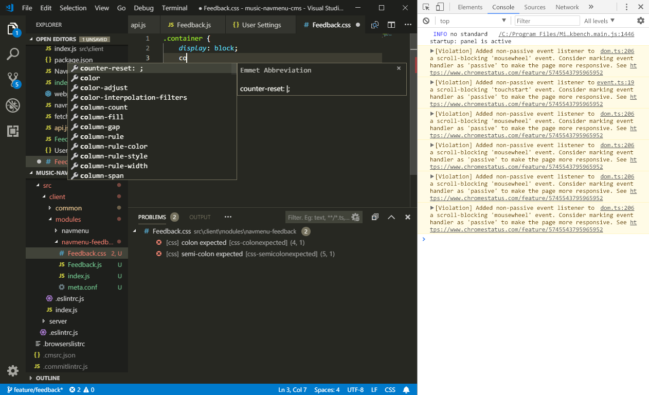 JavaScript IntelliSense doesn't working after starting up