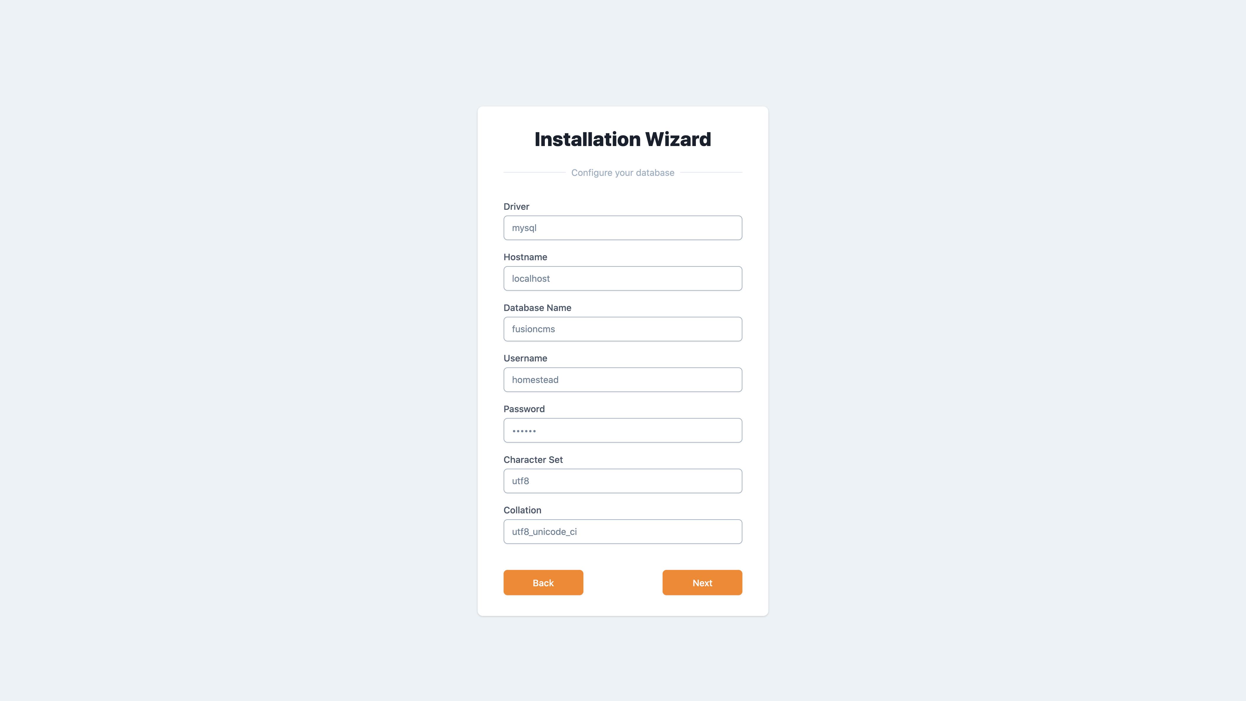 Visual Installation Wizard