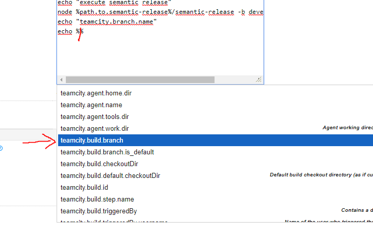 branch is always undefined when used in TeamCity build step