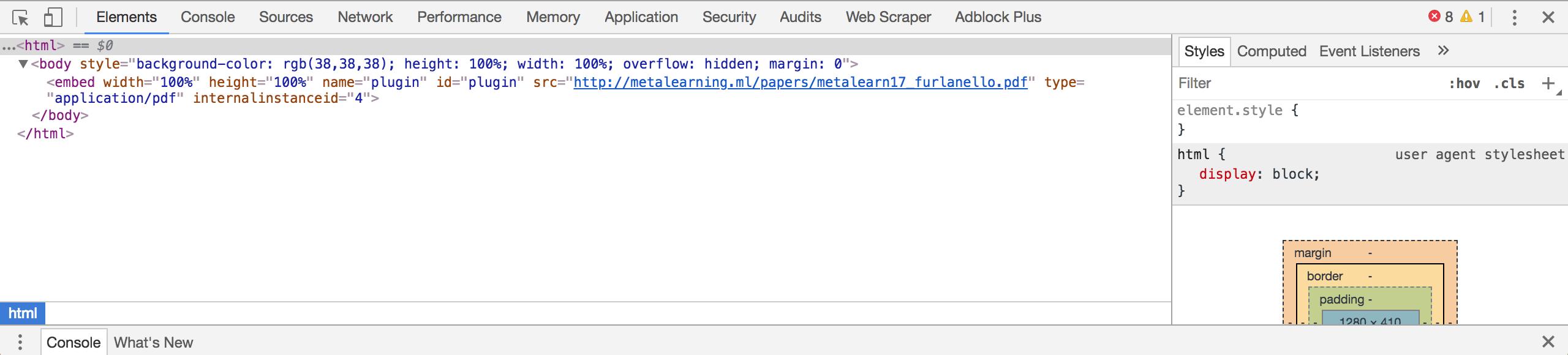 Issue: Javascript Overlay Blocks PDF Viewer in Chrome Version 66 0