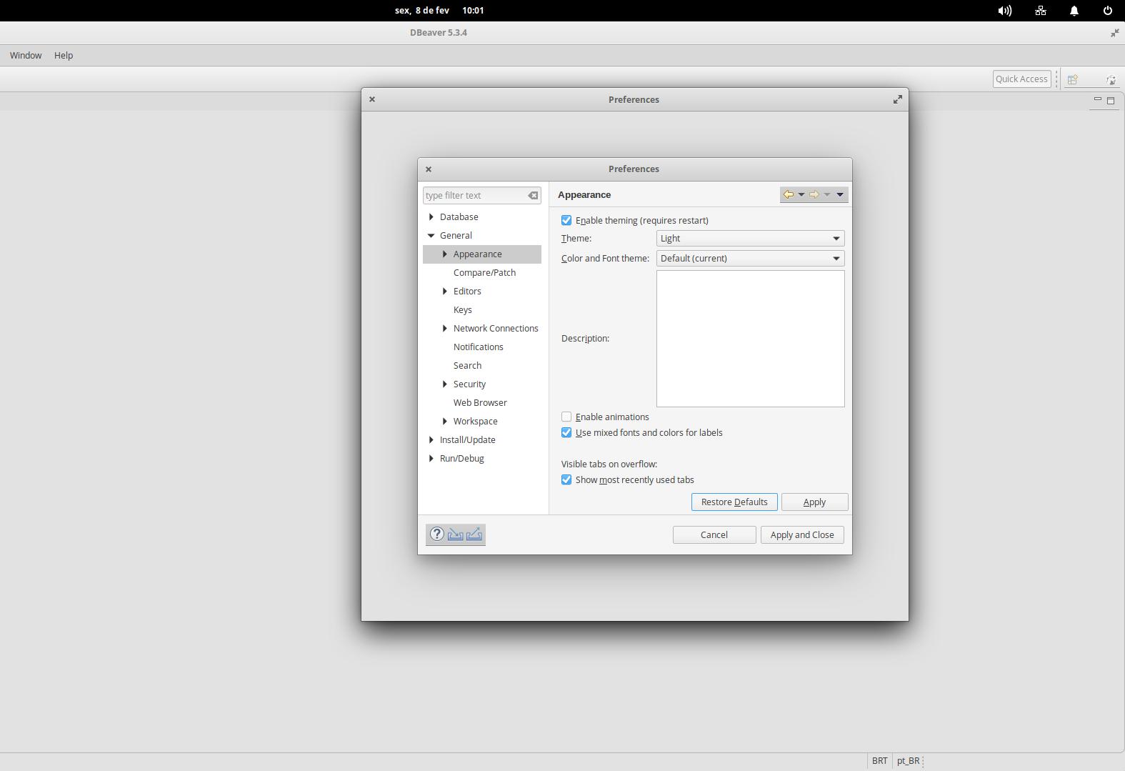 DBeaver on elementary OS 5 0 Juno · Issue #5239 · dbeaver/dbeaver