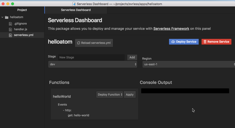 Serverless Dashboard
