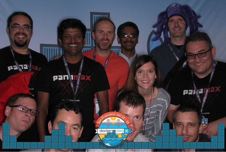 CenturyLink Labs team at the photo booth