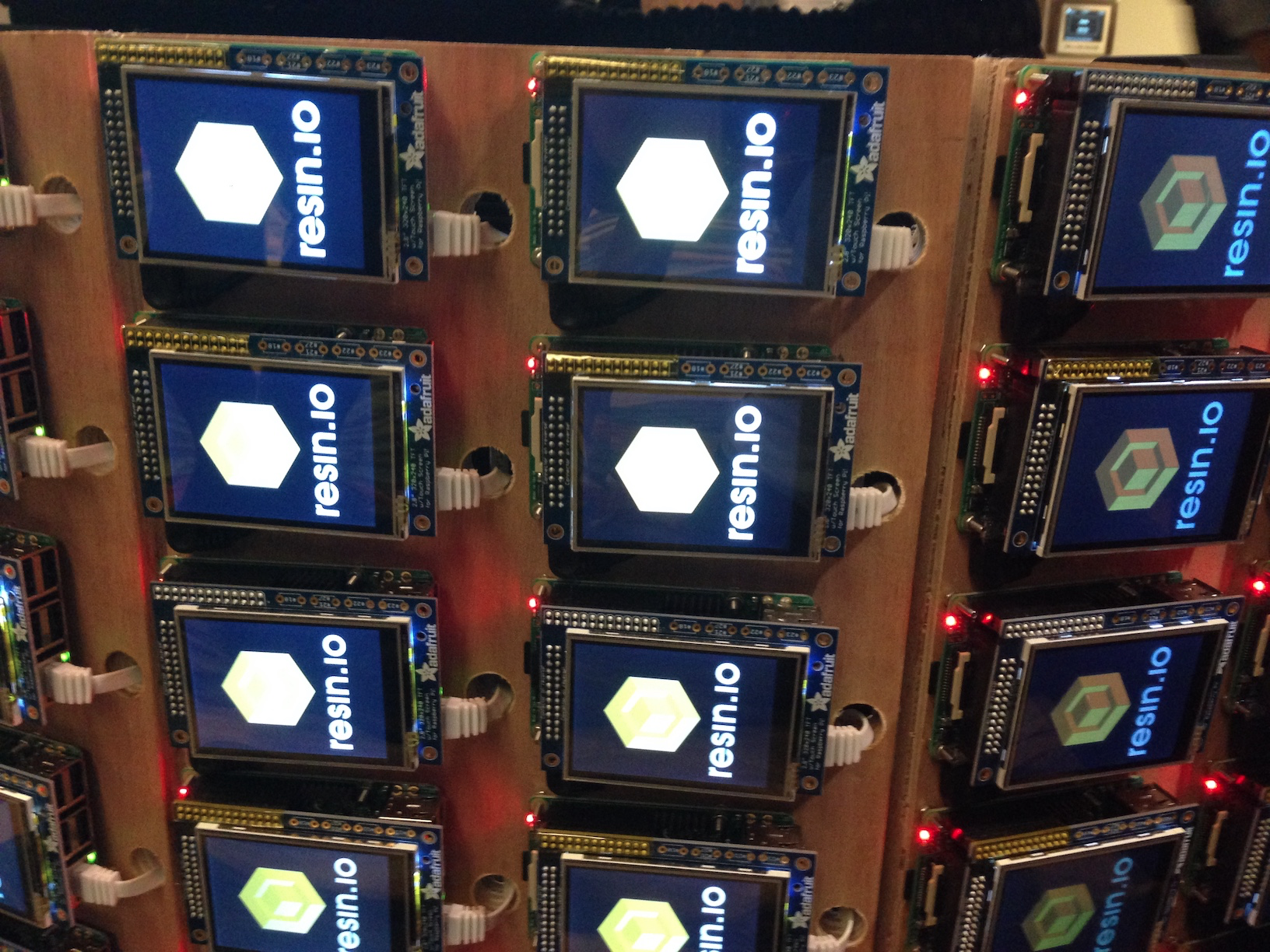 Cluster of Raspberry Pis running Docker