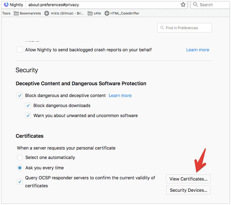Madison : Browsersync ssl certificate