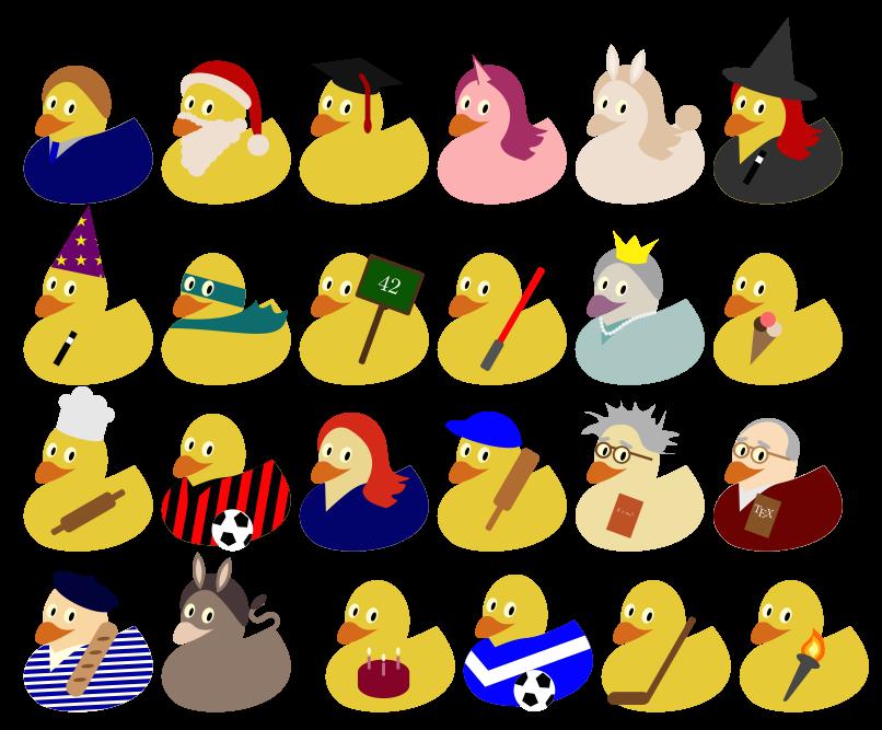 tikz ducks