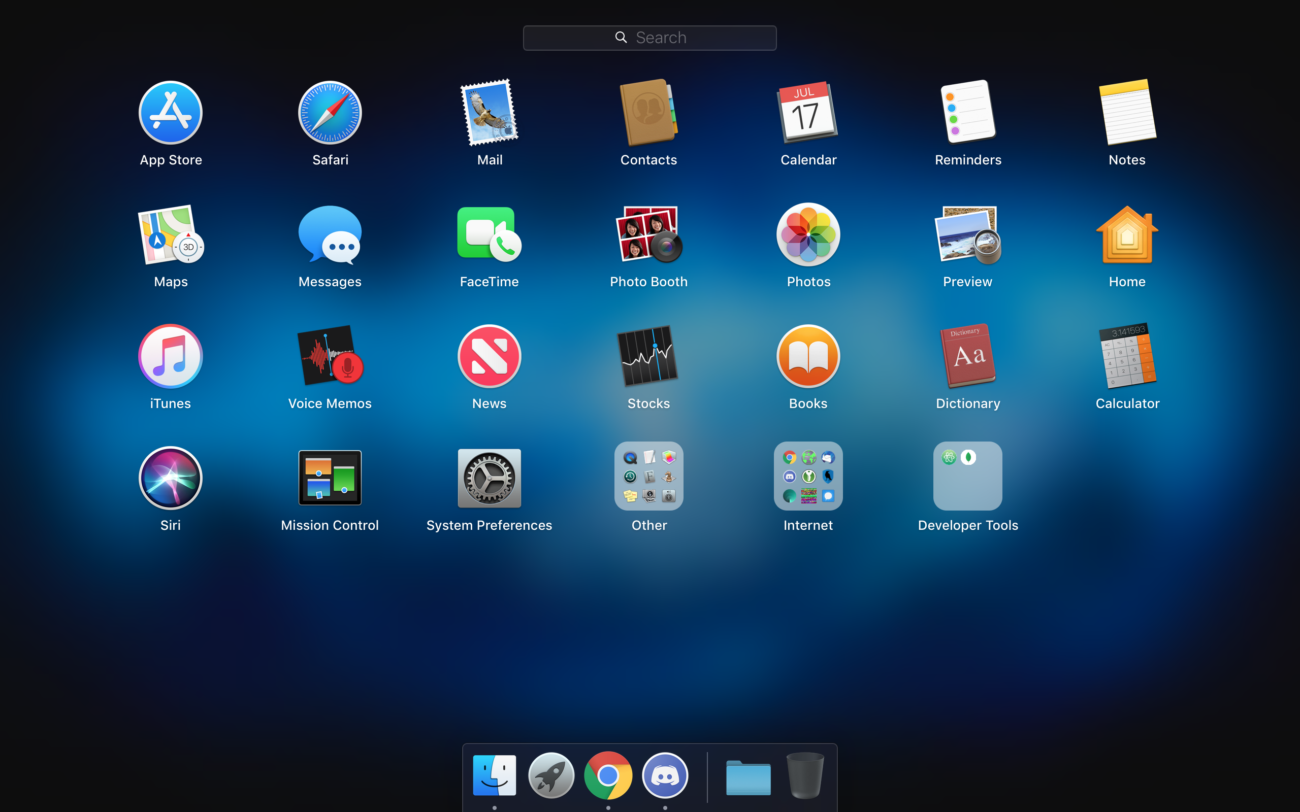 Outline Manager icon preview - inside an app folder - appears