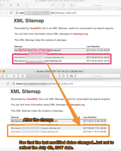 wrong last modified date time in sitemap index issue 7163 yoast