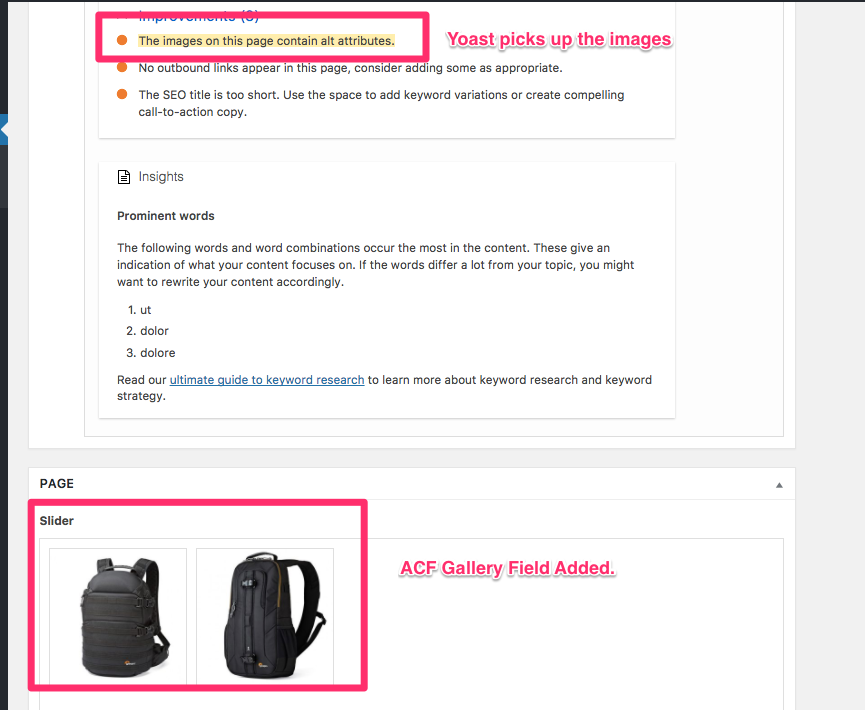 feature request include images attached to the post on sitemap acf