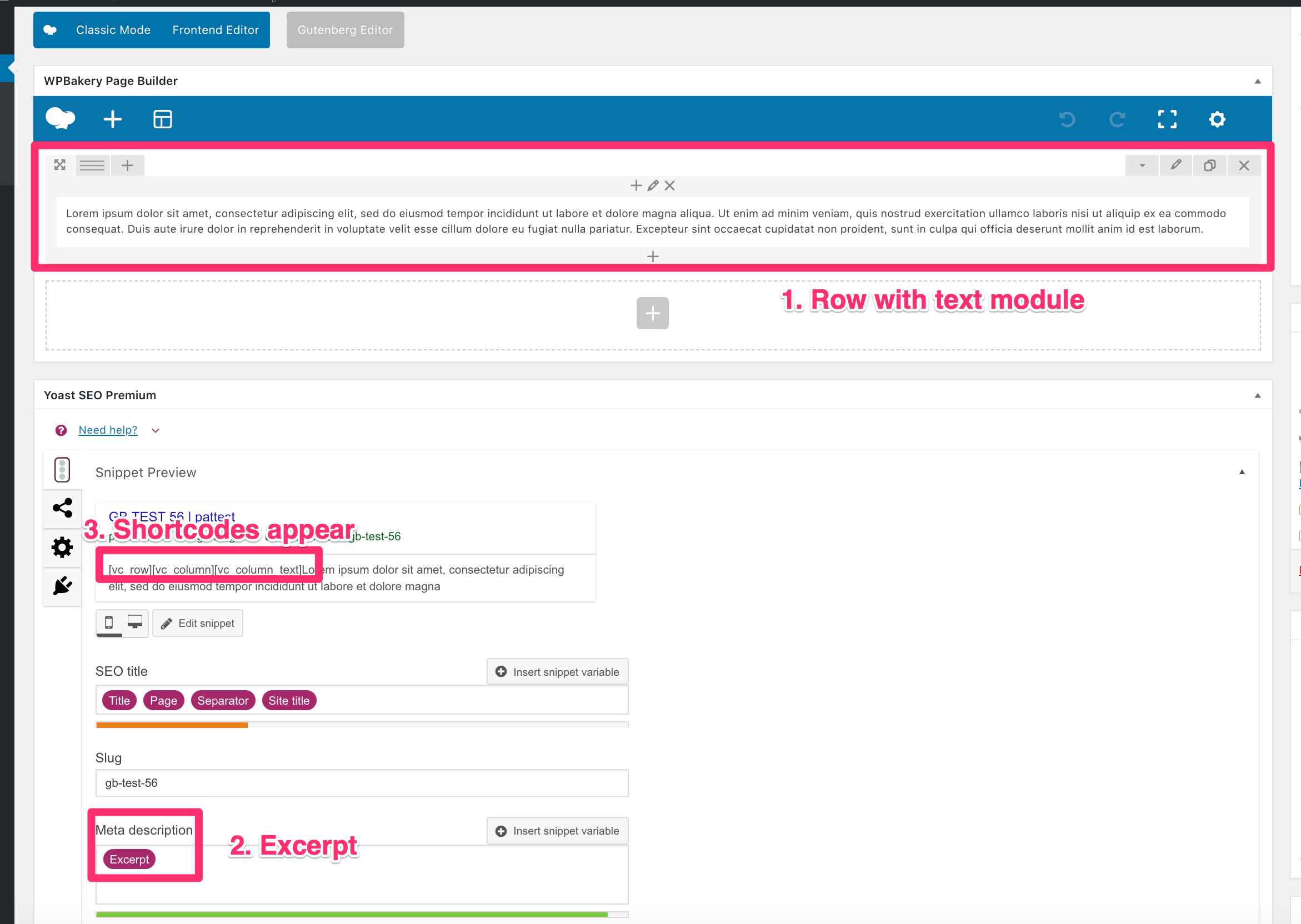 WPBakery Row Module Shortcodes Appearing in Snippet Preview