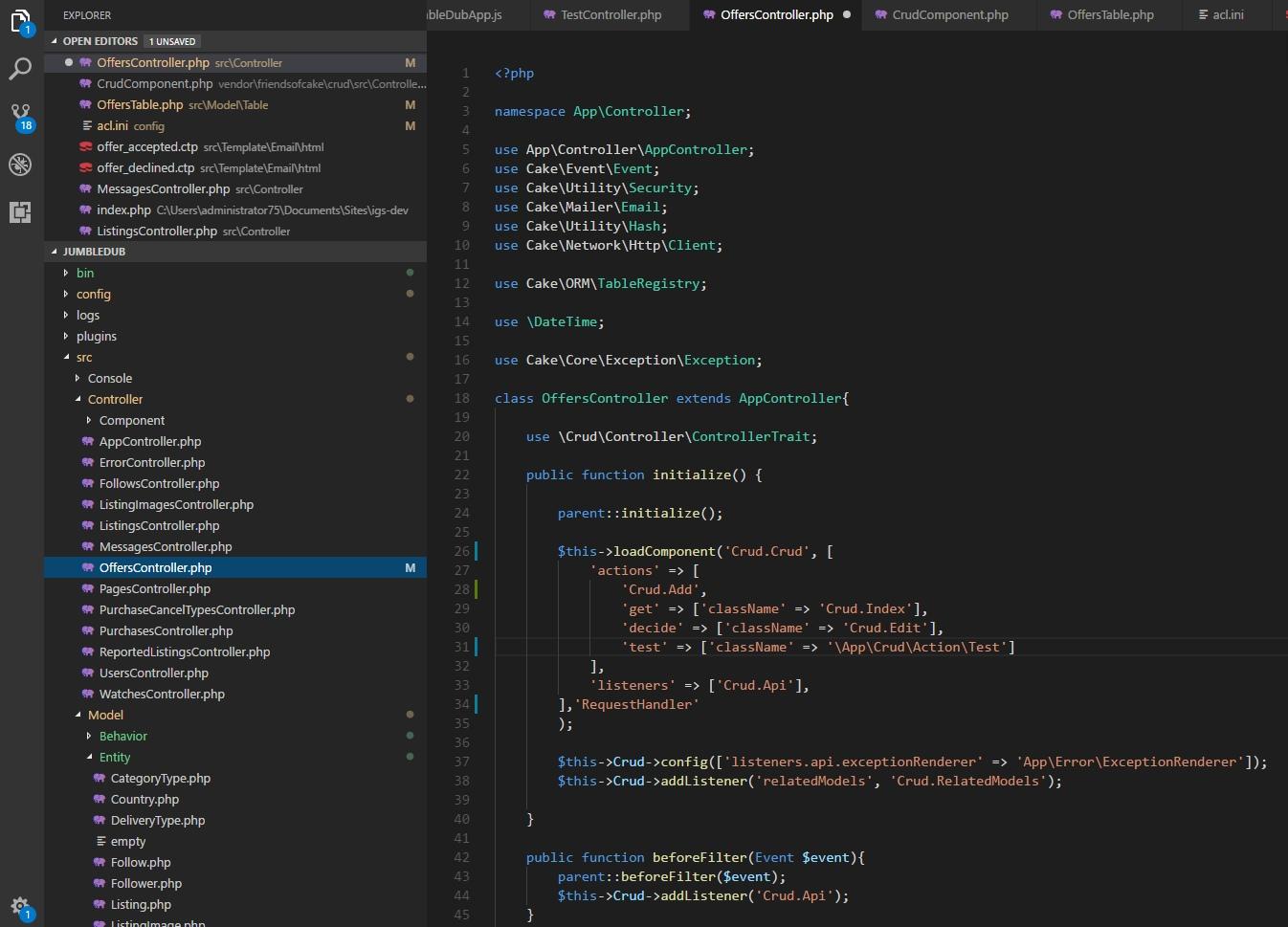 Custom Method class not found · Issue #568 · FriendsOfCake