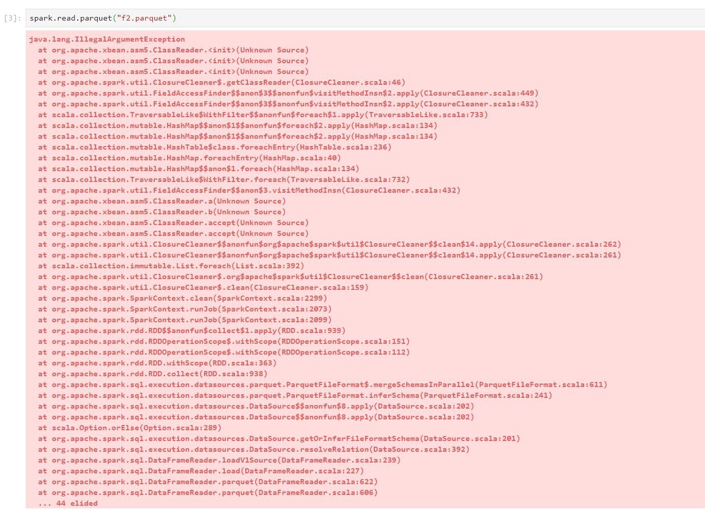 Spark/Scala Issues · Issue #8034 · twosigma/beakerx · GitHub