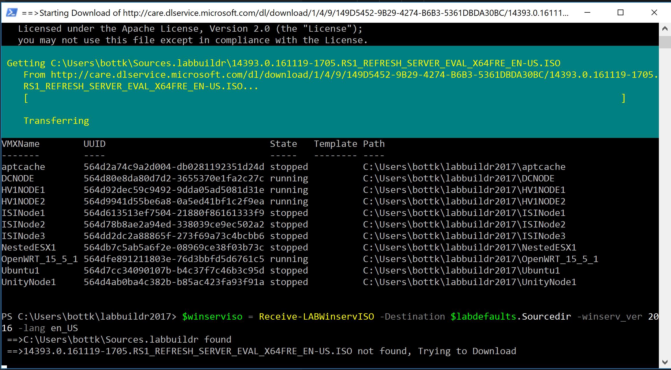 Creating a Windows Master - labbuildr