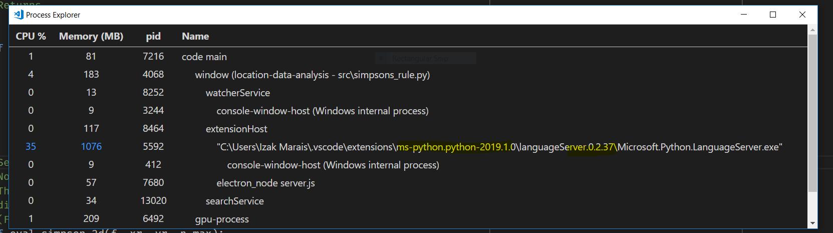 Downgrade Python Language Server command · Issue #4986