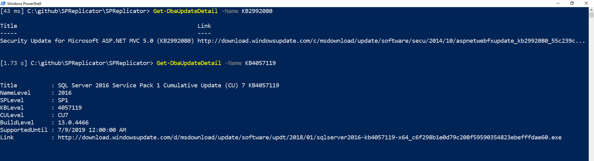Download KB's directly from the Microsoft Update Catalog