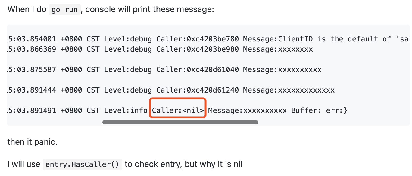sometime caller is nil · Issue #904 · sirupsen/logrus · GitHub