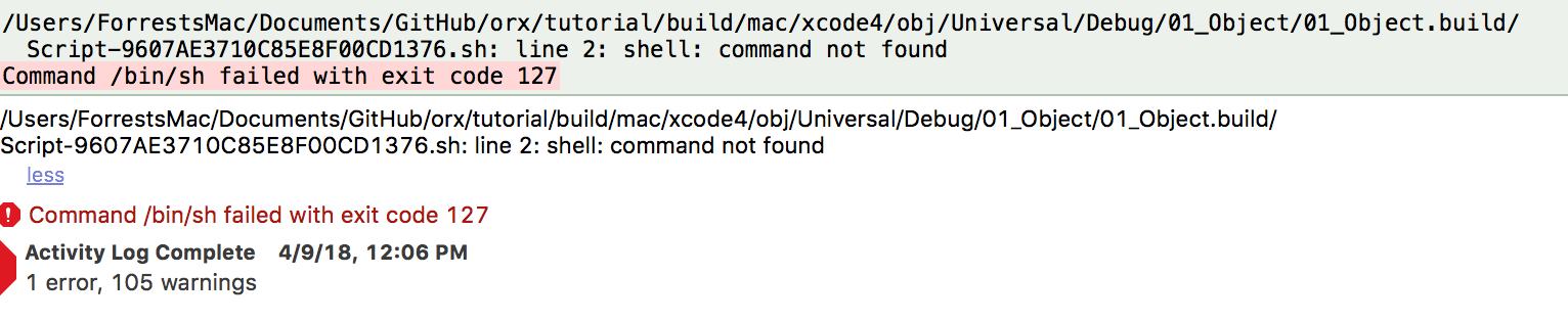 help wanted] Compiler error for tutorial projects, Mac OS