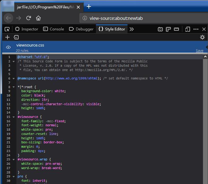 Firefox Style Editor